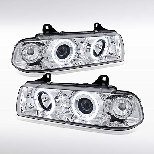 Autozensation For BMW E36 3-Series 2Dr 4Dr Halo Projector Headlights - Projector 98 Bmw E36 Halo
