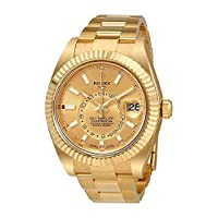Rolex Sky-Dweller Champagne Dial Automatic Men's 18kt Yellow Gold Oyster Watch 326938CSO