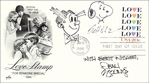 - Charles M. Schulz - First Day Cover Signed co-signed By: Dean Young, Charles Bragg