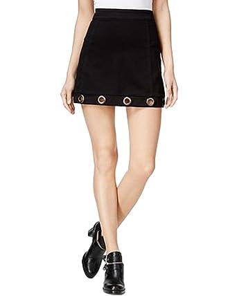 6f2d6038f6b Amazon.com  Material Girl Juniors  Grommet Denim Skirt