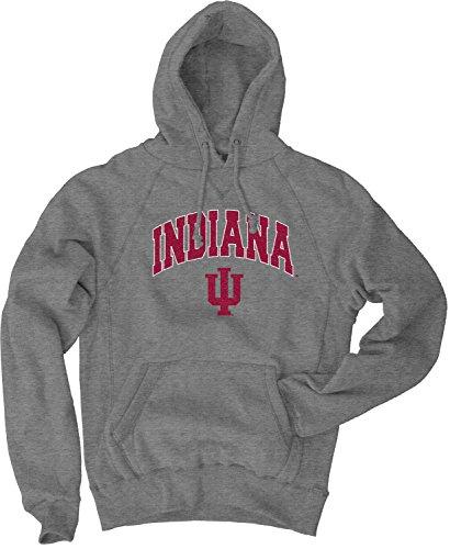 Indiana Metal Hoosiers (Blue 84 NCAA Indiana Hoosiers Men's Sanded Pullover Hoodie, Gunmetal, Large)