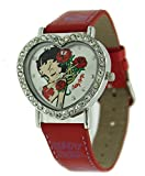Betty Boop Women's Heart Shape Leather Strap Watch #BB-W369B