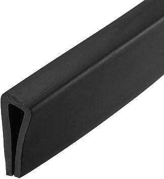 uxcell Edge Trim U Seal Grey PVC Plastic U Channel Edge Protector Fits 3//64-5//64 Edge 20 Feet Length 15//32 Height