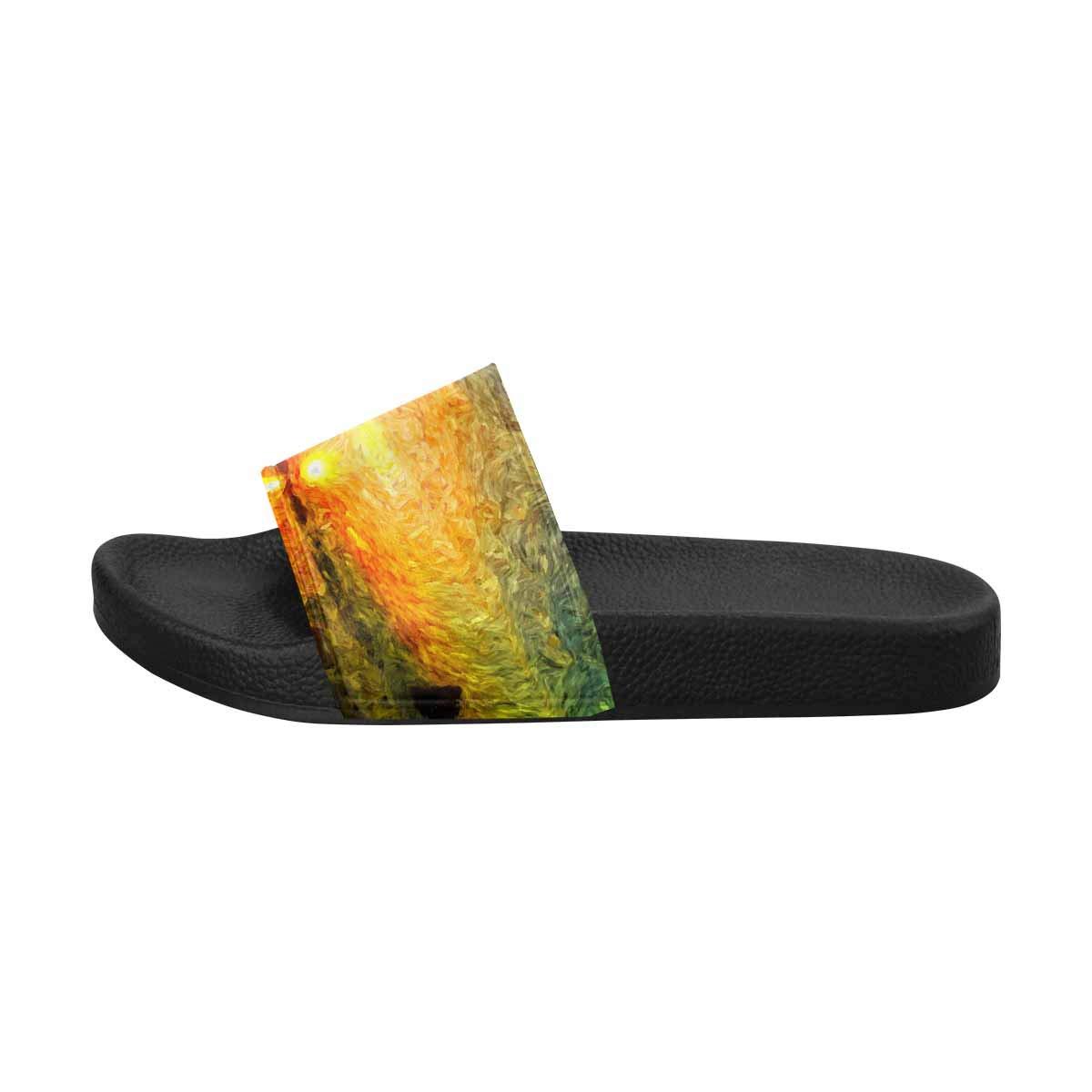 INTERESTPRINT Lightweight Bath Slippers House Slippers for Women US6-US12 Sunrise or Sunset