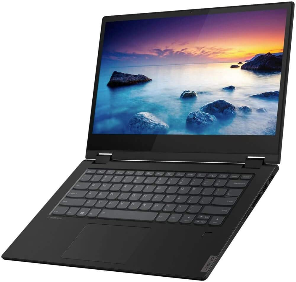 "Lenovo Ideapad Flex-14Iml 81XG0000US 14"" Touchscreen 2 in 1 Notebook - 1920 X 1080 - Core i5-8 GB RAM - 256 GB SSD - Onyx Black - Windows 10 Home 64-bit - Intel UHD Graphics - in-Plane Switchin"
