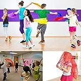 24 Pcs Square Dance Scarves, Juggling Scarf Props