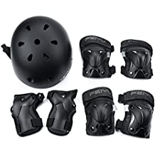 Weanas Kids Youth Adjustable Sports Protective Gear Set, Safety Pad Safeguard (Helmet Knee Elbow Wrist Pads)