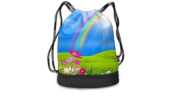 GymSack Drawstring Bag Sackpack Colorful Anchor Sport Cinch Pack Simple Bundle Pocke Backpack For Men Women