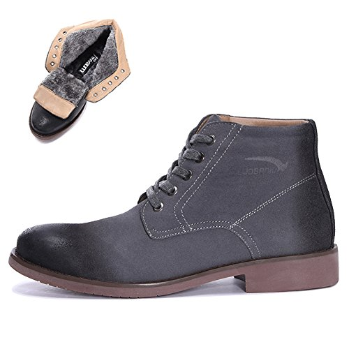 Bancebs Fashionable Suede Lace-up Mens Chukka Boot Black LlpYS