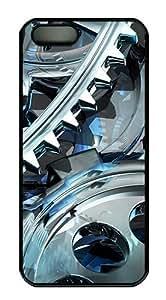 3D Gear Design Polycarbonate Custom iPhone 6 plus(5.5)5 Case Cover - Black