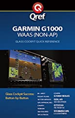 Get the most out of your GPS with a Qref checklist. Clear, illustrated overviews and procedures help you master the Garmin G1000 WAAS quickly. Qref Quick Reference checklists feature expert tips and helpful procedures in a handy, indestructib...