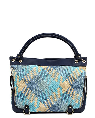 Jezzelle Woven Hobo Bag, Navy, One Size