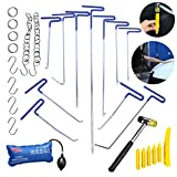 29Pcs Special Pdr Rod Dent Puller Kits AUTOPDR Car Auto Body Paintless Dent Repair Removal Remover Tools Set Equipment Automotive Dent Puller Slide Hammer Hand Tool Air Wedge Pump Device
