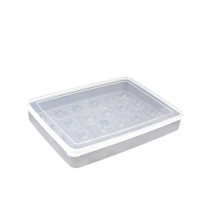Nider 24 Hoyos de plástico Transparente Cajas de Almacenamiento ...