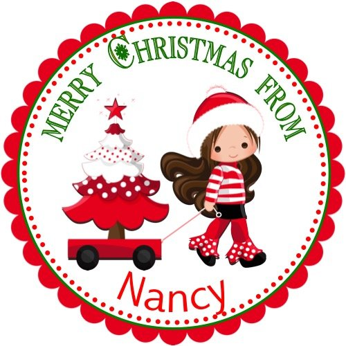 amazon com 40 personalized christmas labels party favors holiday