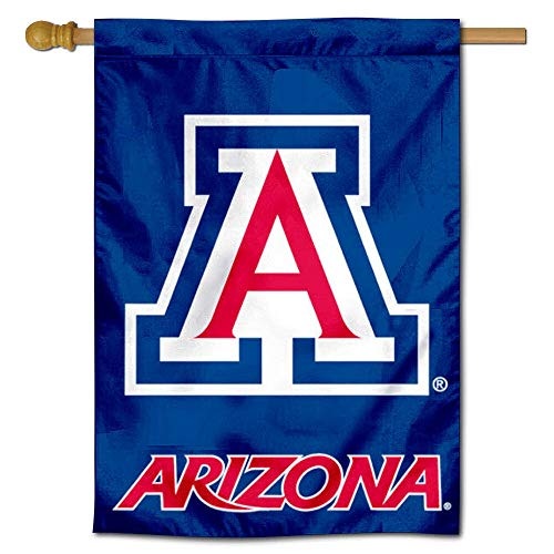"College Flags and Banners Co. University of Arizona Blue 28"" x 40"" Two Sided House Flag"
