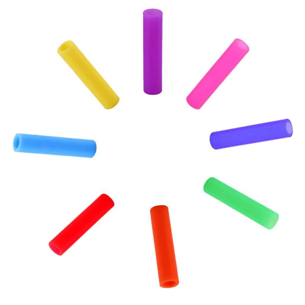 1x Brush Winkey Long en acier inoxydable pailles en m/étal avec brosses de nettoyage de recyclage Wite 4x Straws