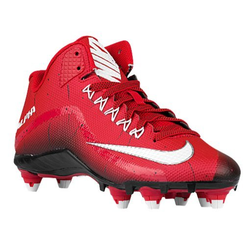 8132e181eb37d Nike Alpha Pro 2 3/4 TD Football Cleats (12, Game Red/Black/White)
