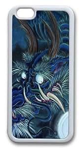 Blue Dragon Custom iphone 6 plus 5.5 inch Case Cover TPU White