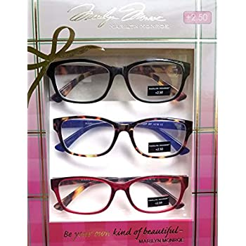 ccc294ff6401 Amazon.com  Marilyn Monroe Fashion Print Reading Glasses 3 Pack ...