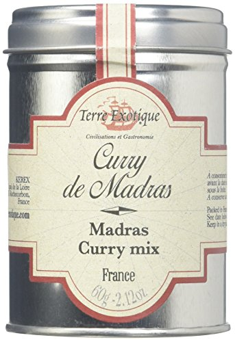 Terre Exotique Madras Curry Tamil Nadu India- Fabulous Spicy Mix in Tin Presentation 2.1 Oz by Terre Exotique