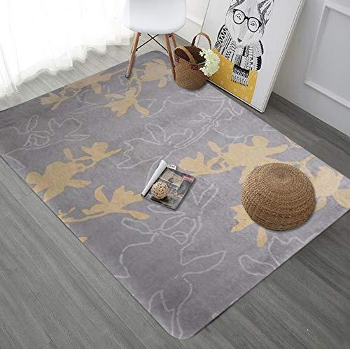 Modern Contemporary,Luxury Designer Living Room Bedroom Bedside Rug,Light Brown Virtual Flowers, 120180cm