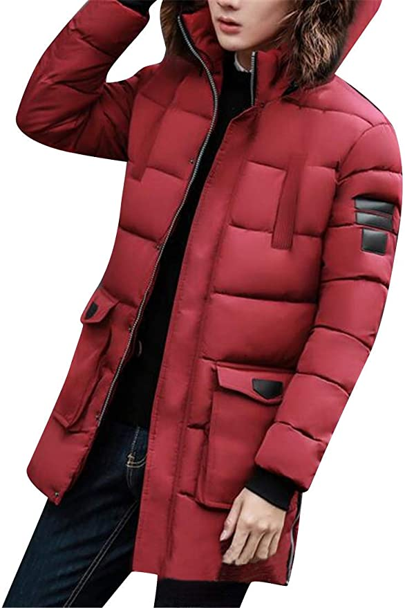 MK988 Men Hooded Thermal Winter Longline Down Quilted Puffer Jacket Coat Outerwear