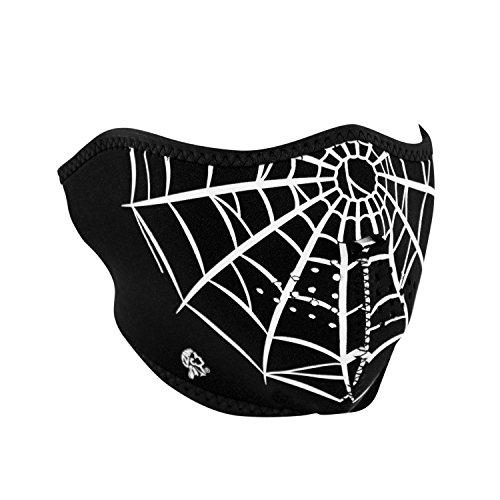 Zanheadgear WNFM055H Neoprene Half Face Mask, Spider Web ()