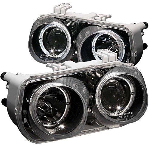 1994-1997 Acura Integra Dual Halo Projector Headlights + 8 Led Fog Bumper Light