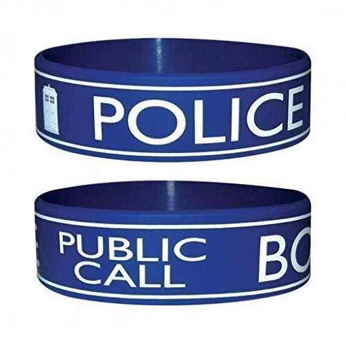 [Doctor Who Tardis Police Box Rubber Wristband] (Dr Who Police Box Costume)