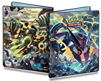 Ultra Pro Pokemon Card 9 Pocket Binder Album Portfolio featuring Mega Rayquaza Ex and Primal Groudon EX