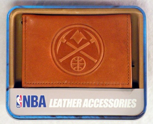 Rico Industries NBA Denver Nuggets Embossed Leather Trifold Wallet, ()