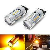 audi a4 b8 headlight bulbs - iJDMTOY (2) Amber Yellow CAN-bus PWY24W LED Bulbs For Audi A3 A4 A5 Q3 Q7 BMW i3 MINI Cooper F55 F56 Mercedes C-Class, GLK GLC Front Turn Signal Lights