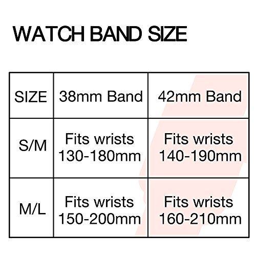 ENANYN Compatible Apple Watch Band 38mm 40mm 42mm 44mm Soft Silicone Sport Wrist Strap iWatch Replacement Bracelet Wristbands for Apple Watch Series 4,3,2,1 of Size S/M,M/L by ENANYN (Image #3)