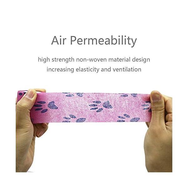 YUMAI vendaje cohesivo de primeros auxilios cinta autoadhesiva 5CM Paquete de 6, Paquete de 12 aprobado por la FDA… 6