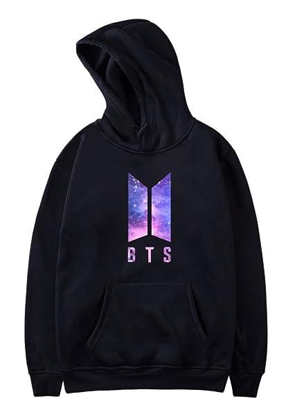 SIMYJOY BTS Bangtan Boys Love Yourself Schild Hoodie K POP Sweatshirt Caual Langarm Rollkragenpullover für Fans Damen Herren Mädchen Jungen