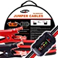 TOPDC Smart Battery Jumper Cables 4 Gauge 20 Feet Heavy Duty Booster Cables Reverse Hook Up Alternator Indicator, Battery Condition Tester (4AWG x 20Ft)