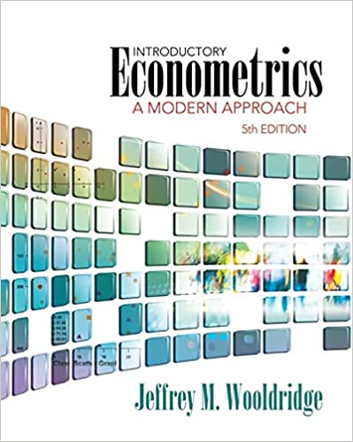 Introductory Econometrics A Modern Approach Upper Level