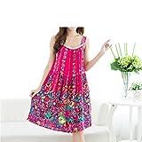 Endand New Women Summer Night Dress Plus Size Loose Printing Casual Nightwear Sleepwear Nightgown