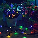 Lalapao Solar String Lights 2 Pack Christmas lights 72ft 22m 200 LED Solar Powered Starry Lighting Waterproof Outdoor String Lights for Indoor Gardens Xmas Tree Homes Wedding Party Decor (Multi Color)