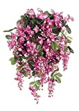 "Afloral Fuchsia Pink Silk Wisteria Bush - 31"" Long"