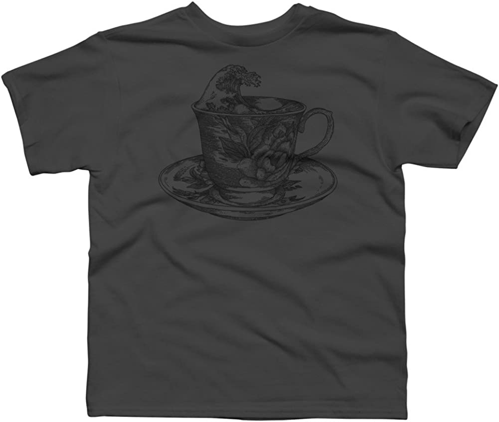 classic cup of coffee and the oriental wave Boys Youth Graphic T Shirt