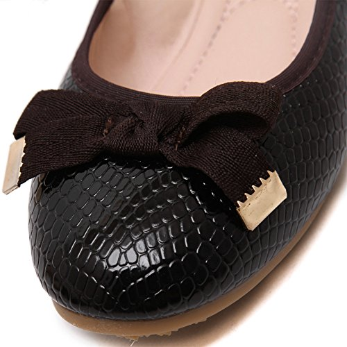 Flats Comfy 635Black School Women's Work Dolly Pumps Slip Ladies fereshte On Ballet Shoes waqTvT