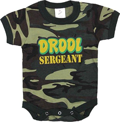 Camouflage Drool Sergeant Baby Newborn Infant One Piece Jump Suit Bodysuit ()