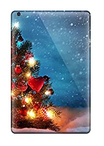 Craigmmons Rrnehzr1576faVwi Case Cover Skin For Ipad Mini/mini 2 (christmas Tree Outside Snow Night Decoration Lights Xmas Santa Claus Holiday Christmas)