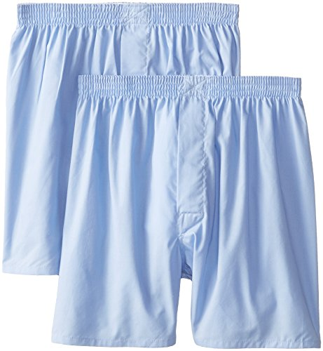 Munsingwear Men's 2-Pack Woven Boxer, Light Blue, Medium