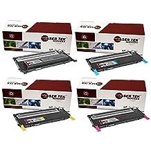 Laser Tek Services® 4 Pack Replacement Samsung CLT-406S High Yield Toner Cartridges (CLT-K406S, CLT-C406S, CLT-M406S, CLT-Y406S) for the Samsung CLP-365W, CLX-3305FW, Xpress C410W, Xpress C460FW