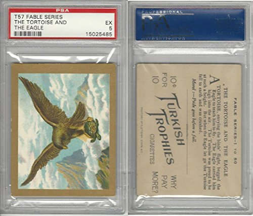 (T57 Turkish Trophies, Fable Series, 1910, The Tortoise and Eagle, PSA 5 EX)
