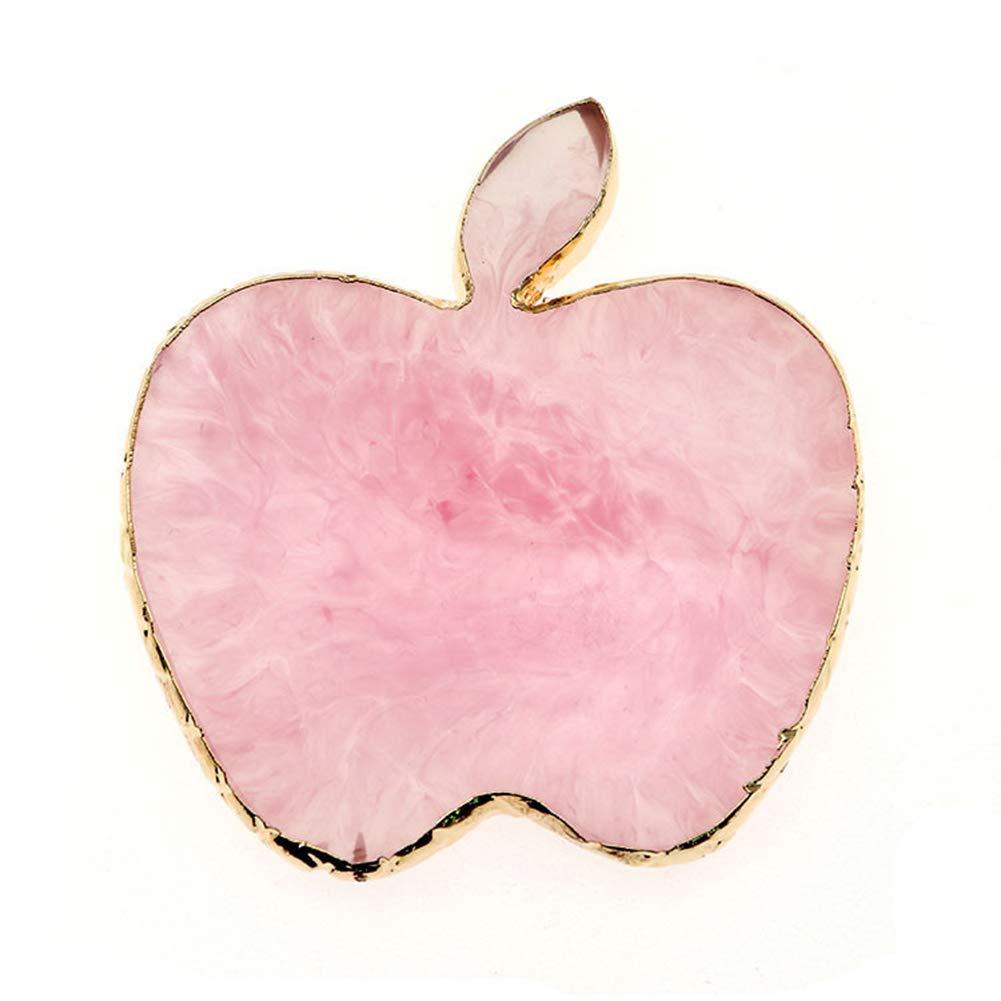 AKOAK 1 Pack Natural Resin Agate Nail Art Gel Nail Polish Palette Nail Art Tools (Apple, pink)