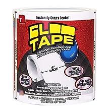 "ZooArts Tape White 4"" x 5"" Strong Rubberized Waterproof Seal Tape (White)"